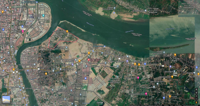 Google map of Koh Norea 2020