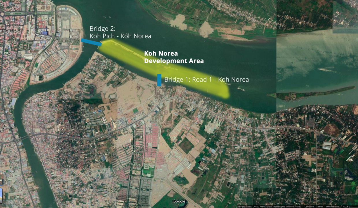 Koh Norea development area and bridges