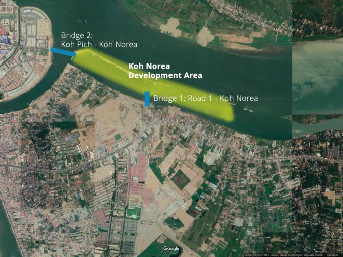 Koh Norea development area and bridges