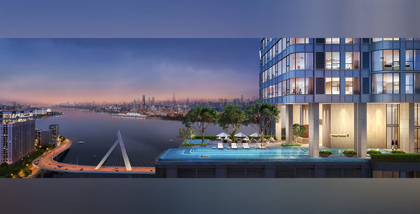 Luxury Waterfront Condo in Phnom Penh – a Masterpiece by world top designer HKS