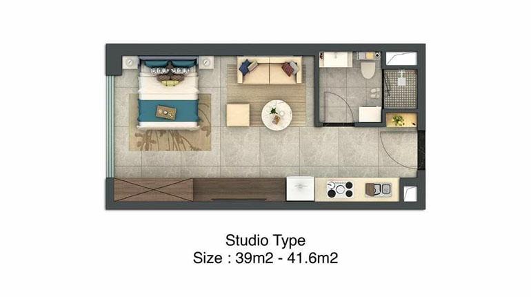 Studio Room Floor Plan